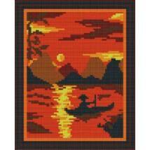Pixel készlet (4 alaplapos) - Naplemente