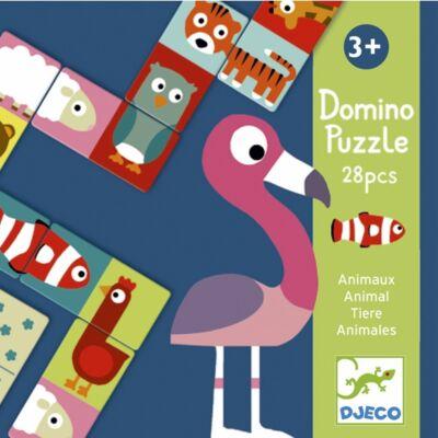 Felezős puzzle - Domino Animo-puzzle