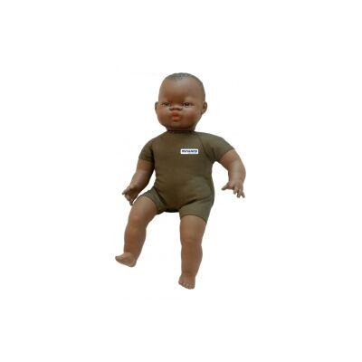 Afrikai baba 40 cm textil testtel