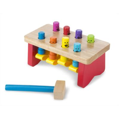 Fa készségfejlesztő játék - Kalapálós asztal