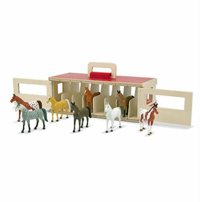 Ló figuák istállóval (8 db)