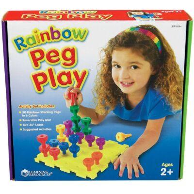 Rainbow Peg Play
