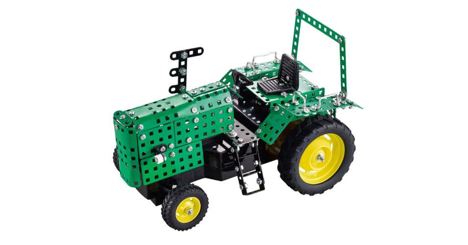 Fém építőjáték: Old Timer Traktor távirányítóval